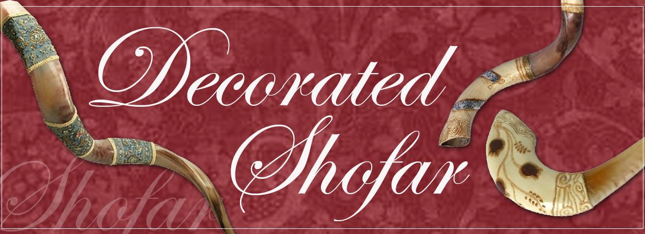 Decorated Shofars